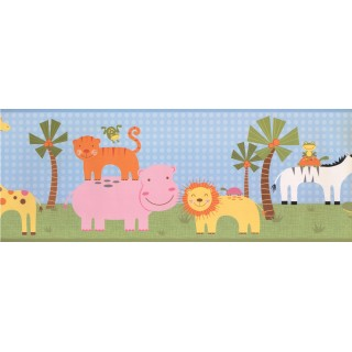 9 in x 15 ft Prepasted Wallpaper Borders - Kids Wall Paper Border 9169 YS