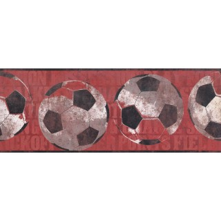 9 in x 15 ft Prepasted Wallpaper Borders - Sports Ball Wall Paper Border 3172 ZB