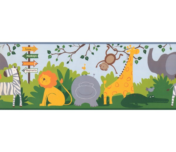 Jungle Animals Wallpaper Border 3207 ZB