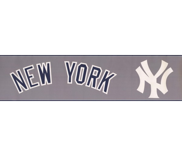 Baseball New York Wallpaper Border 3312 ZB