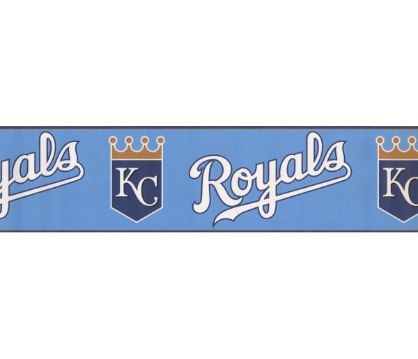 Baseball Wallpaper Borders: Royals Wallpaper Border 3364 ZB