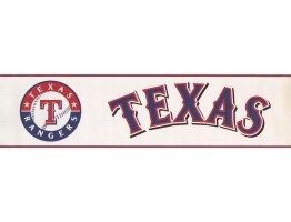 Prepasted Wallpaper Borders - Texas Rangers Wall Paper Border 3373 ZB