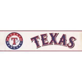 6 in x 15 ft Prepasted Wallpaper Borders - Texas Rangers Wall Paper Border 3373 ZB