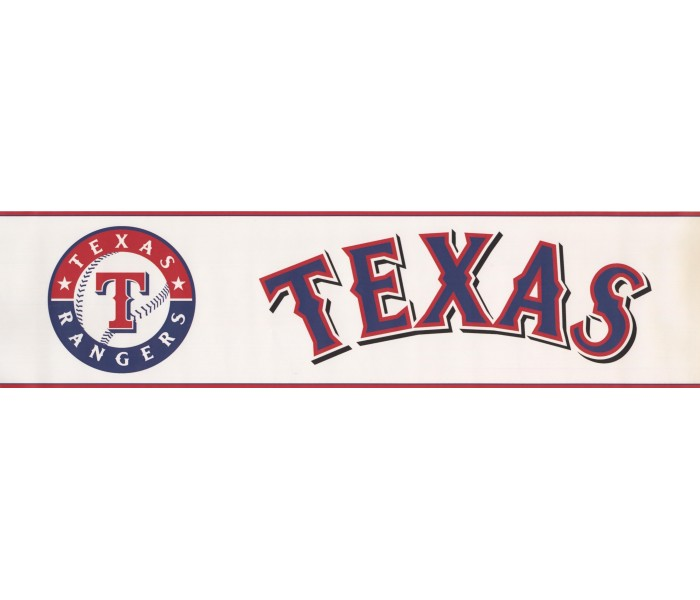 Baseball Wallpaper Borders: Texas Rangers Wallpaper Border 3373 ZB