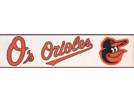 Prepasted Wallpaper Borders - Orioles Wall Paper Border 3405 ZB