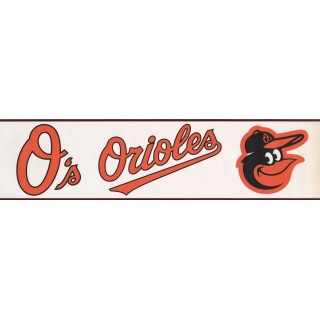 6 in x 15 ft Prepasted Wallpaper Borders - Orioles Wall Paper Border 3405 ZB