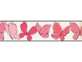 Prepasted Wallpaper Borders - Butterfly Wall Paper Border 3427 ZB