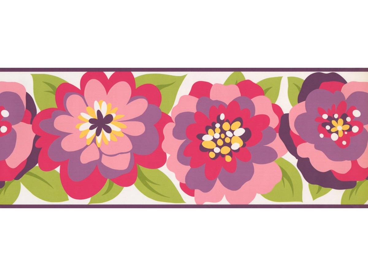 Floral Wallpaper Border 3437 Zb