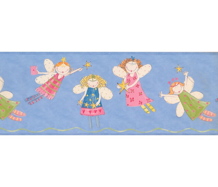 Nursery Wallpaper Borders: Fairies Wallpaper Border 3443 ZB