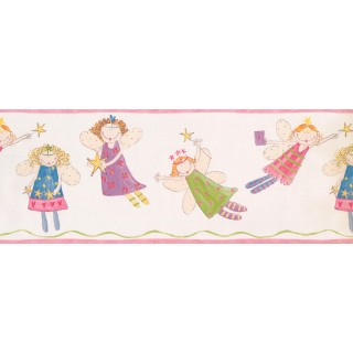9 in x 15 ft Prepasted Wallpaper Borders - Fairies Wall Paper Border 3444 ZB