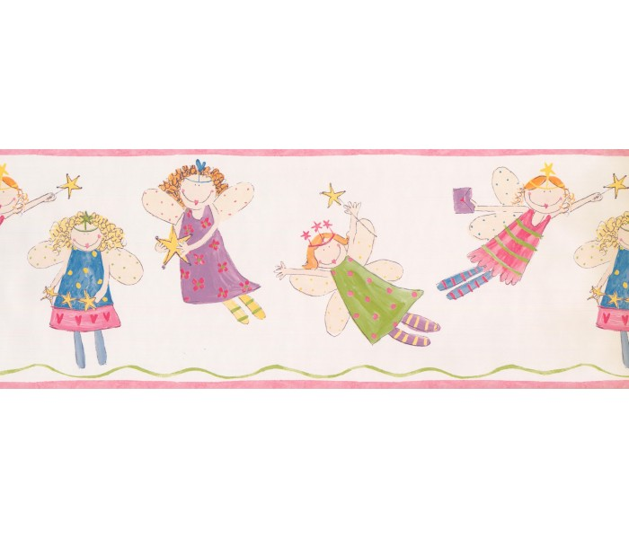 Nursery Wallpaper Borders: Fairies Wallpaper Border 3444 ZB