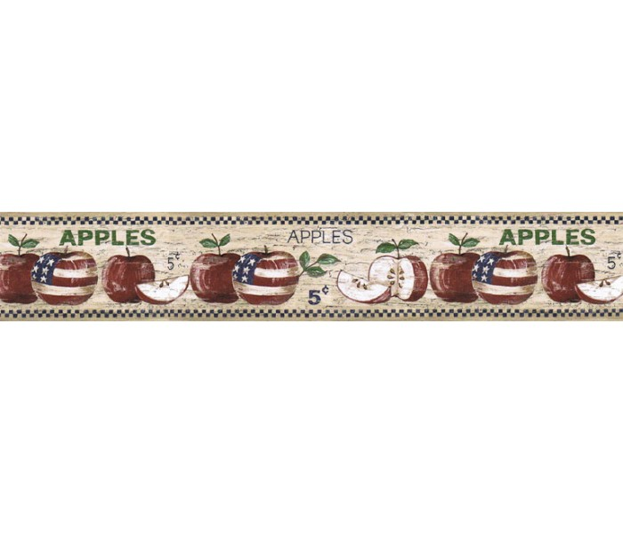 Clearance: Apple Fruits Wallpaper Border HIC0002