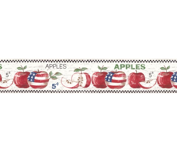 Clearance: Apple Fruits Wallpaper Border HIC0003