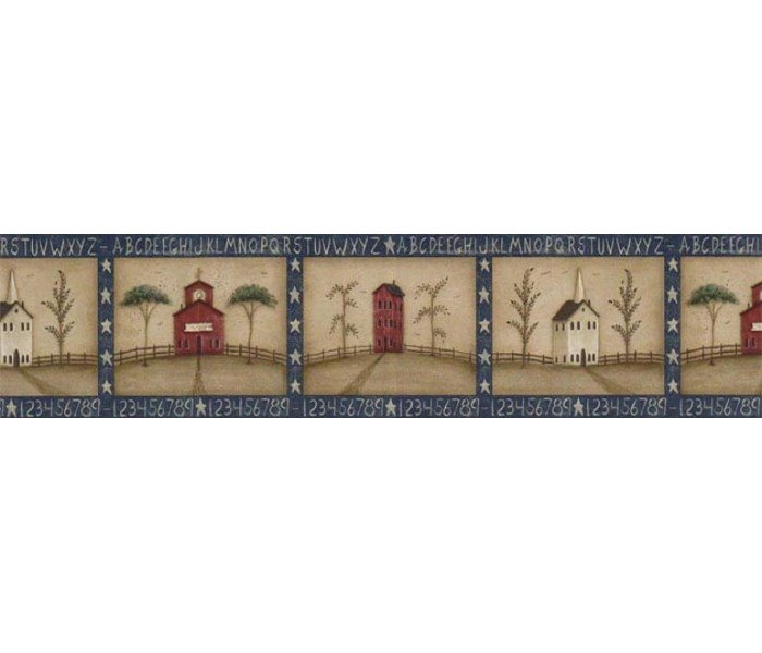 Clearance: Country Wallpaper Border HIC0015