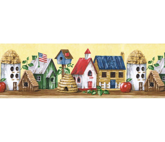 Clearance: Birds House Wallpaper Border HIC0017