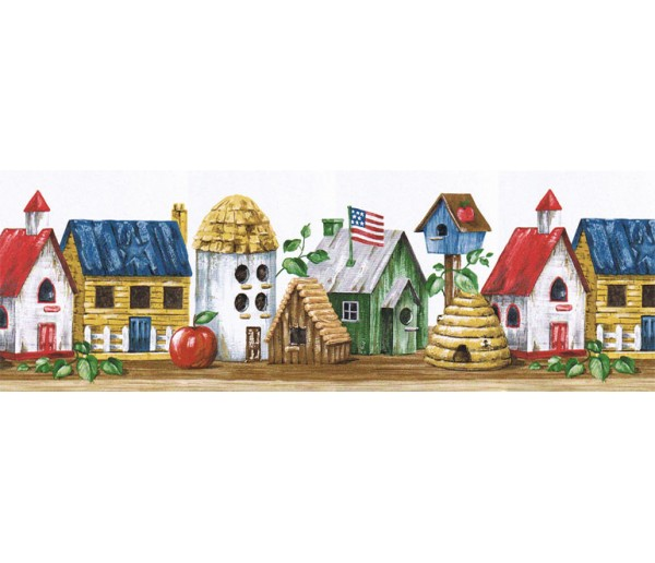 Clearance: Birds House Wallpaper Border HIC0018