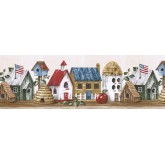 Clearance: Birds House Wallpaper Border HIC0019