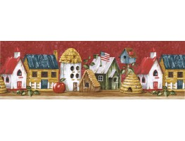 Birds House Wallpaper Border HIC0020