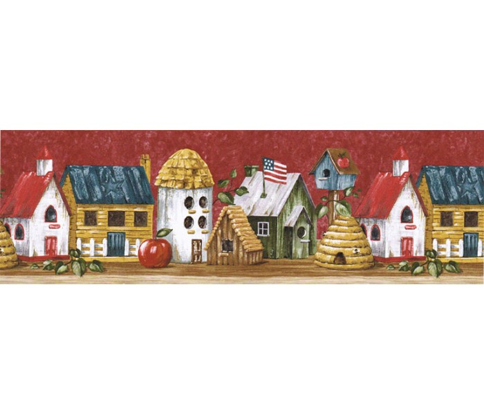 Clearance: Birds House Wallpaper Border HIC0020