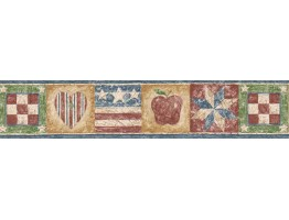 Prepasted Wallpaper Borders - Flag Wall Paper Border HIC0022