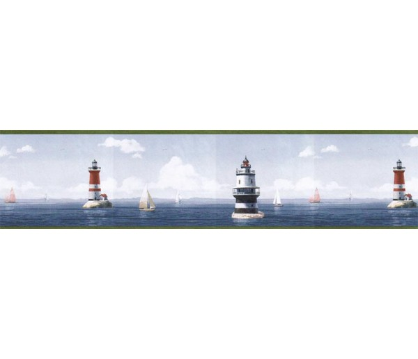 Prepasted Wallpaper Borders - Light House Wall Paper Border HIC0026