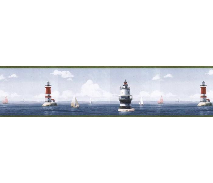 Lighthouse Wallpaper Borders: Light House Wallpaper Border HIC0026