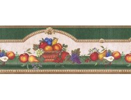 Prepasted Wallpaper Borders - Fruits Wall Paper Border FAB02061