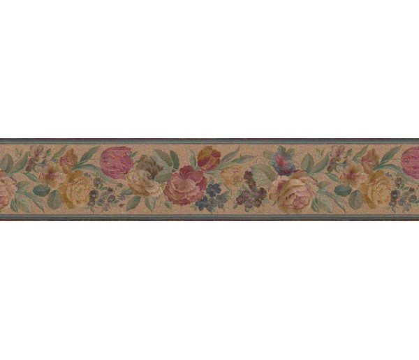 Clearance: Floral Wallpaper Border B03611