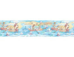 6 7/8 in x 15 ft Prepasted Wallpaper Borders - Kids Wall Paper Border B03973