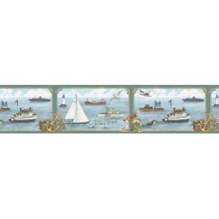 6 7/8 in x 15 ft Prepasted Wallpaper Borders - Kids Wall Paper Border B05729