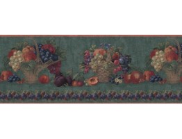 Prepasted Wallpaper Borders - Fruits Wall Paper Border B06043
