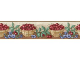 Prepasted Wallpaper Borders - Fruits Wall Paper Border B06103