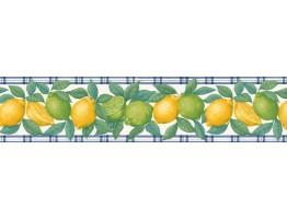 Prepasted Wallpaper Borders - Citrus Fruits Wall Paper Border B06125