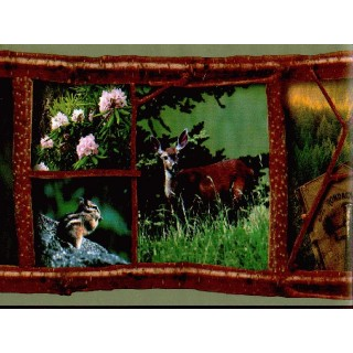 6 3/4 in x 15 ft Prepasted Wallpaper Borders - Deers Wall Paper Border RL1001B