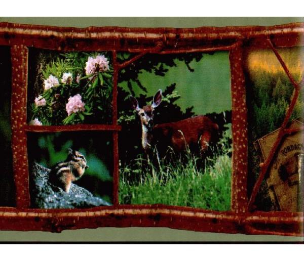Deer Moose Deers Wallpaper Border RL1001B Blonder Home Accents