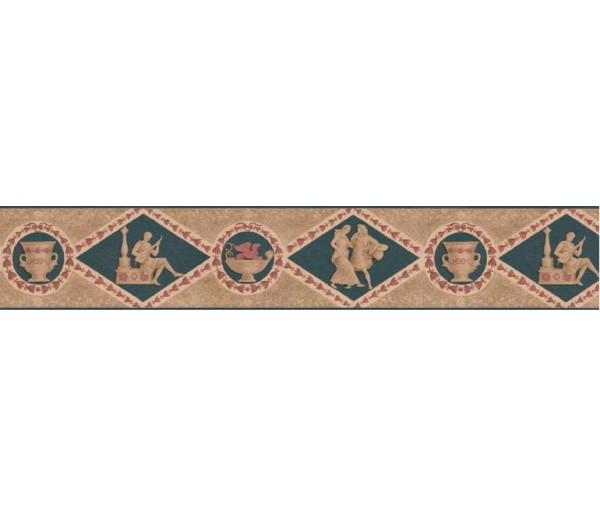 Clearance: Contemporary Wallpaper Border B10160