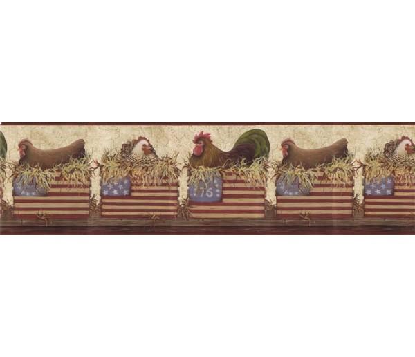 Roosters Wallpaper Borders: Roosters Wallpaper Border b10179