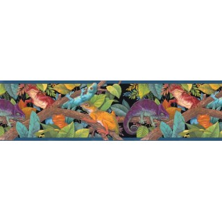 10 1/4 in x 15 ft Prepasted Wallpaper Borders - Kids Wall Paper Border B102153