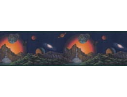 Prepasted Wallpaper Borders - Planets Wall Paper Border CT102250B