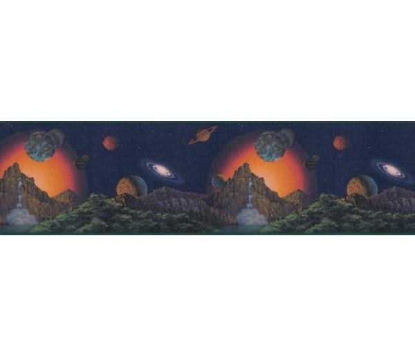Sun Moon Stars Borders Planets Wallpaper Border CT102250B Wendy Tosoff design