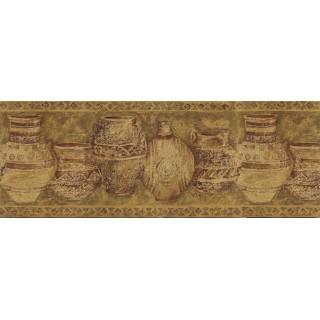 10 1/8 in x 15 ft Prepasted Wallpaper Borders - Kitchen Wall Paper Border MV1023B