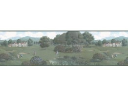 Prepasted Wallpaper Borders - Golf Wall Paper Border b102602