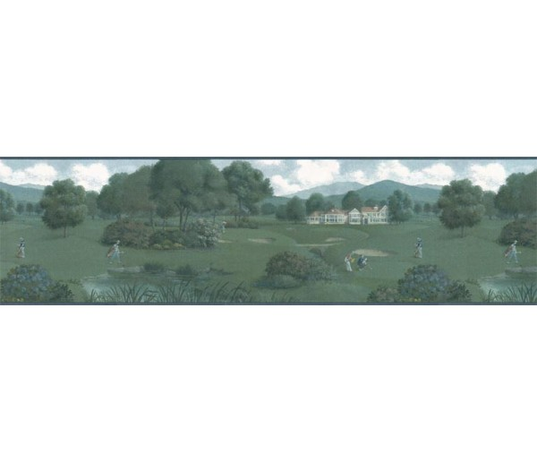 Clearance: Golf wallpaper Border b102604