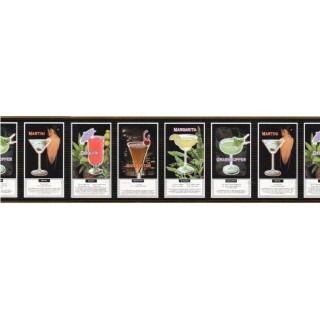 10 1/4 in x 15 ft Prepasted Wallpaper Borders - Kitchen Wall Paper Border b102624