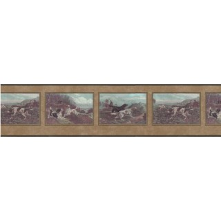 9 in x 15 ft Prepasted Wallpaper Borders - Dogs Wall Paper Border b102632