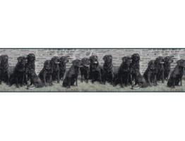 Prepasted Wallpaper Borders - Dogs Wall Paper Border b102692