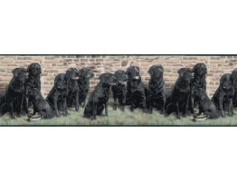Prepasted Wallpaper Borders - Dogs Wall Paper Border b102693
