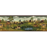 Animal Wallpaper Borders: Country Wallpaper Border SB10274B