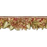 Floral Wallpaper Borders: Leafs Wallpaper Border SB10290B