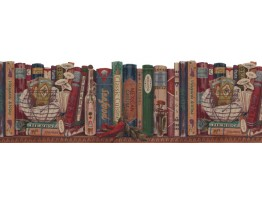 Prepasted Wallpaper Borders - Books Wall Paper Border B103051